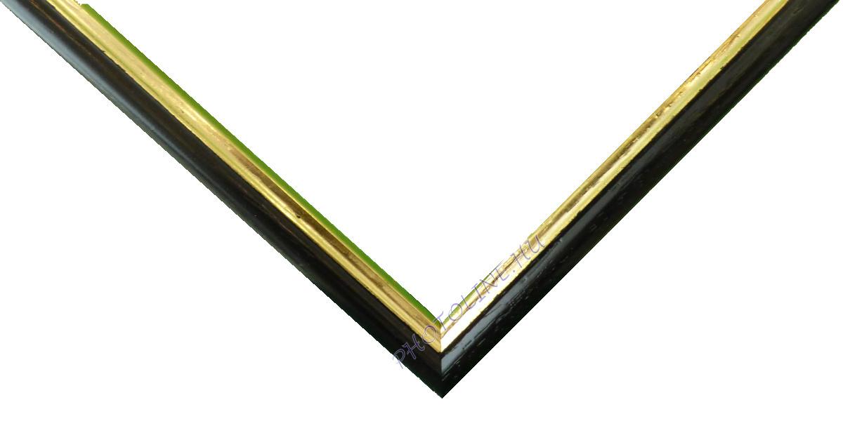 Egyedi keretezés 13 mm profil, fekete elöl arany