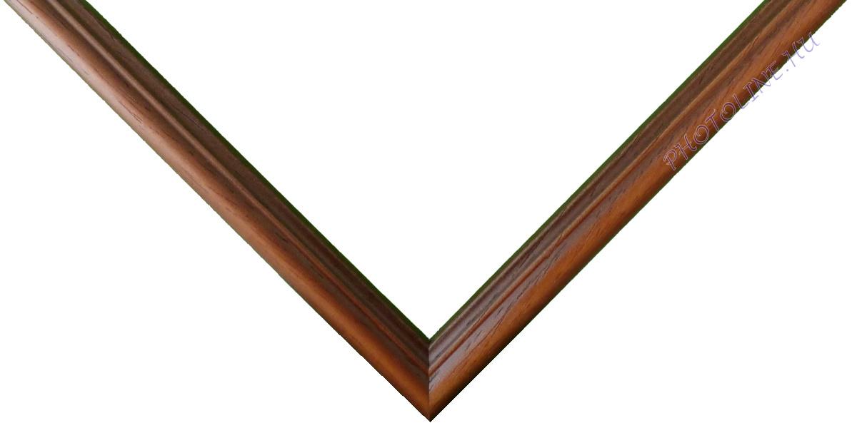 Egyedi keretezés 13 mm profil, barna pácolt visszatörölt