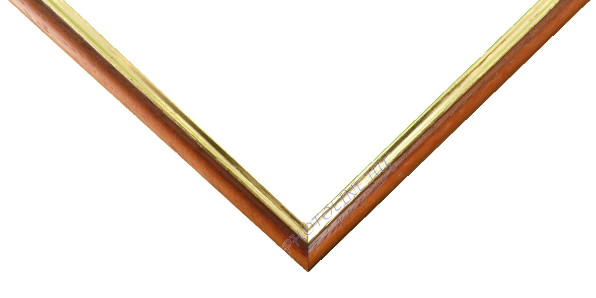 Egyedi keretezés 13 mm profil, barna vt. elöl arany