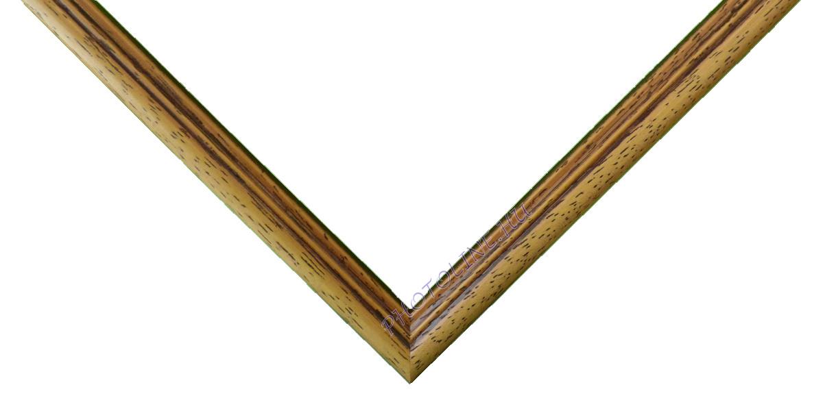 Egyedi keretezés 13 mm profil, krém+barna patina