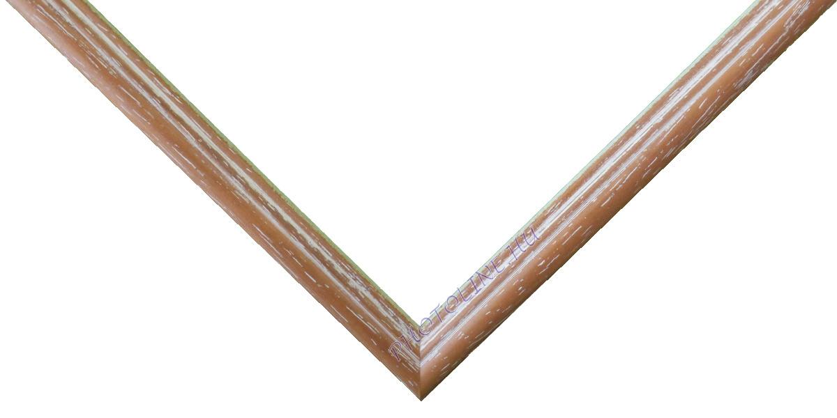 Egyedi keretezés 13 mm profil, mogyoró+fehér patina