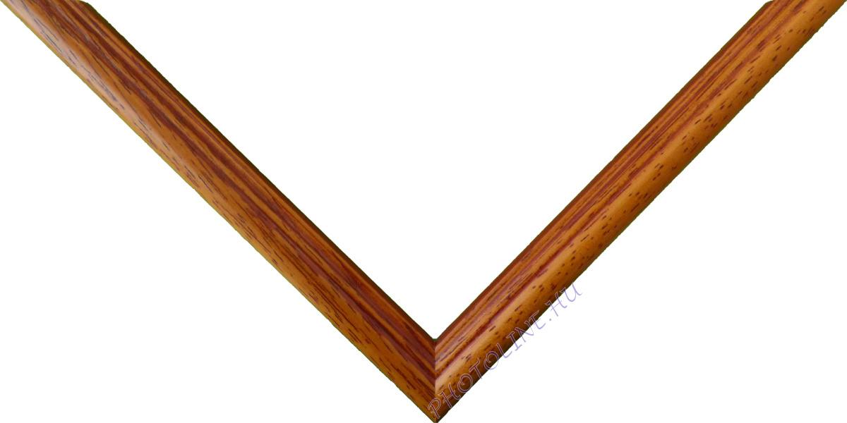 Egyedi keretezés 13 mm profil, mogyoró+barna patina
