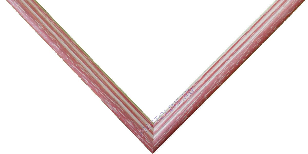 Egyedi keretezés 13 mm profil, eper+fehér patina