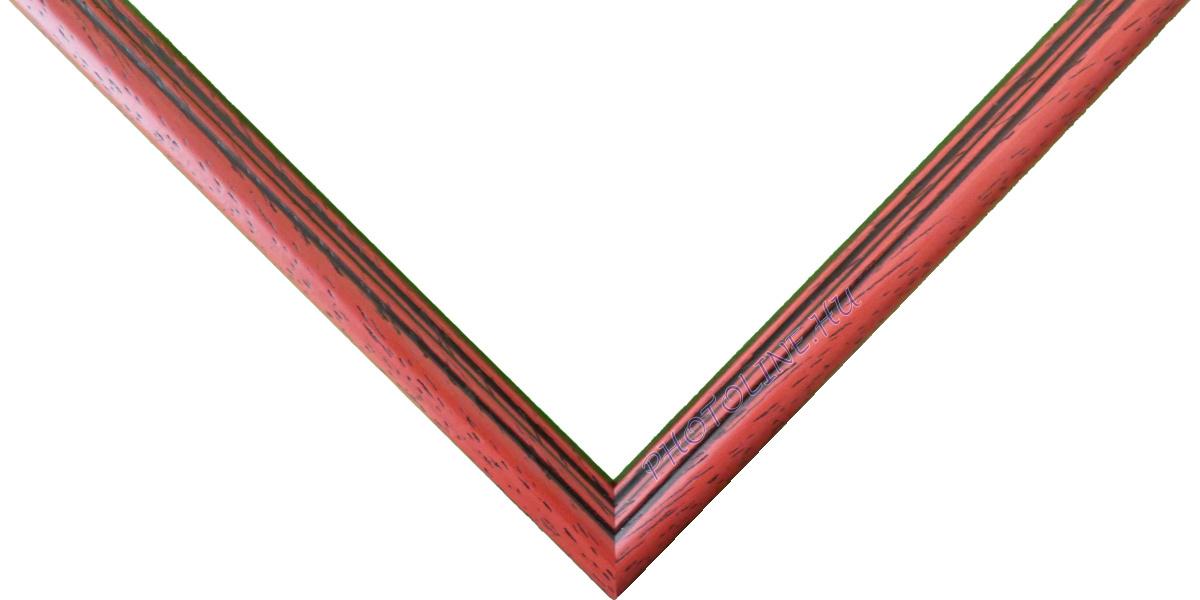 Egyedi keretezés 13 mm profil, eper+barna patina