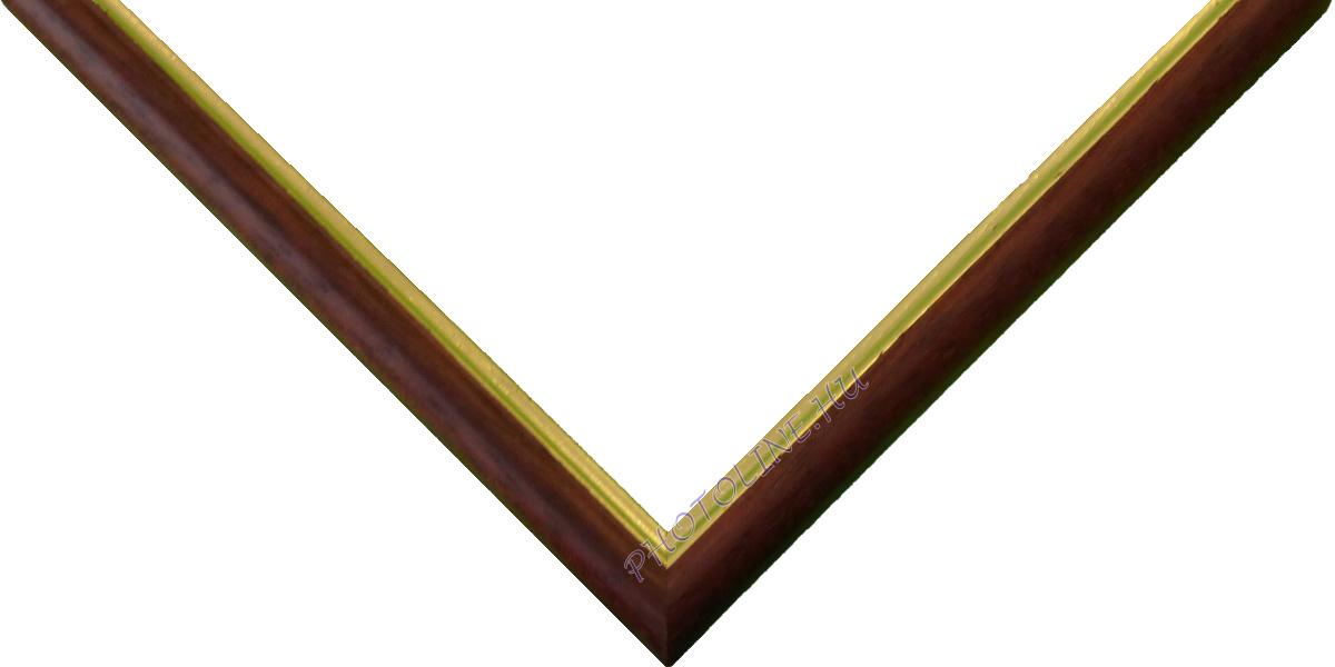 Egyedi keretezés 13 mm profil, mahagóni elöl arany