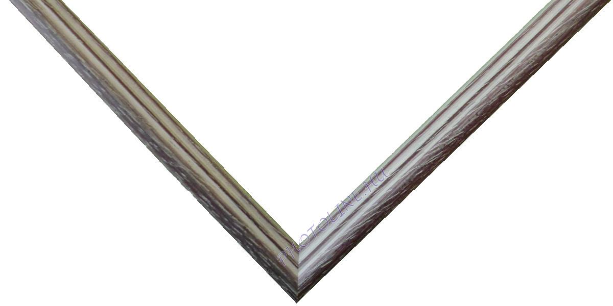 Egyedi keretezés 13 mm profil, mahagóni+fehér patina