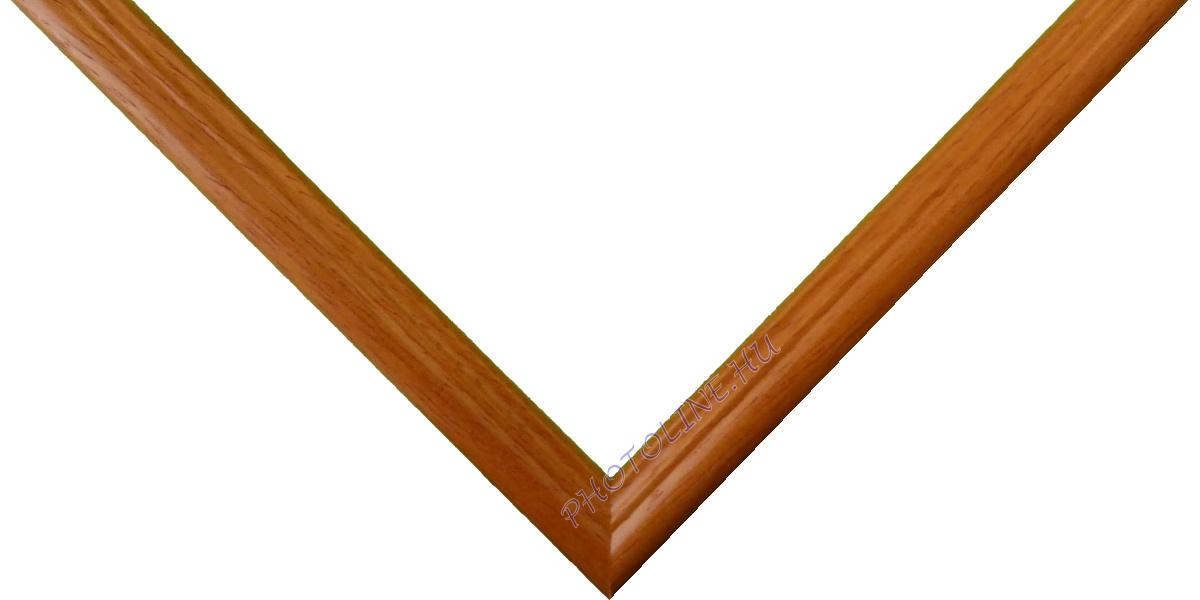 Egyedi keretezés 13 mm profil, mogyoró (enyhén narancssárgás)