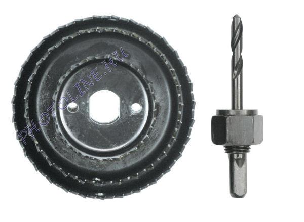 Körkivágó készlet 4 részes, 51-76-89 mm, befogó szárral