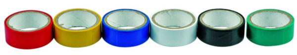 PVC szalag 19mm x 0,13mm x 3m, 6 darab/csomag, hat színben