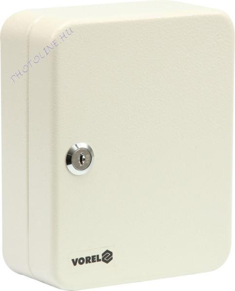 Kulcstartó szekrény zárható, szerelékkel, fém, 15 hely (20cm)