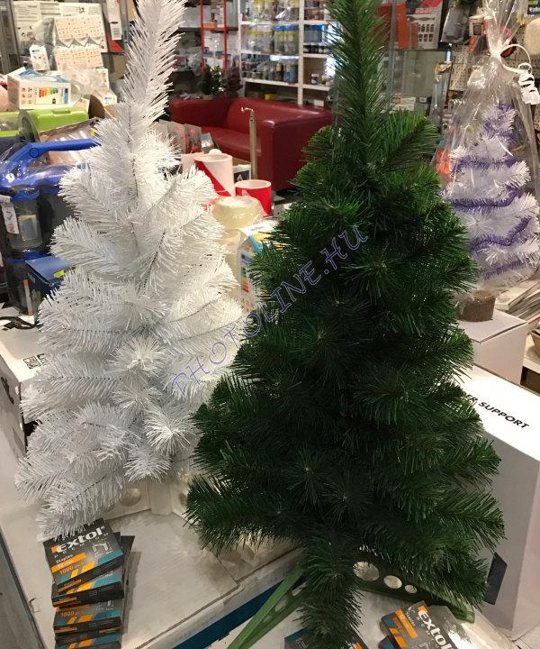Fenyőfa - 60 cm, műanyag talp, fehér fenyő