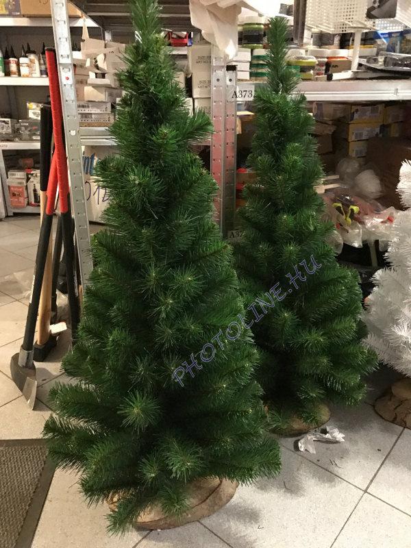 Fenyőfa - 100 cm, fa talp, zöld fenyő