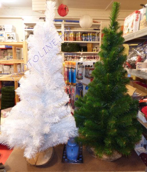 Fenyőfa - 100 cm, fa talp, fehér fenyő