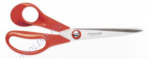 Fiskars olló 21 cm, piros balkezes, Fiskars Classic (9850)