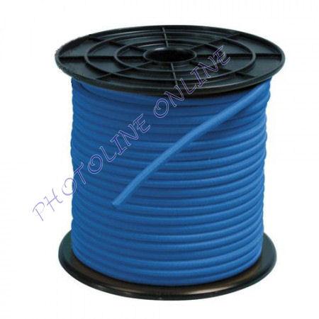 Gumikötél kék, 6mm átmérő, erősített