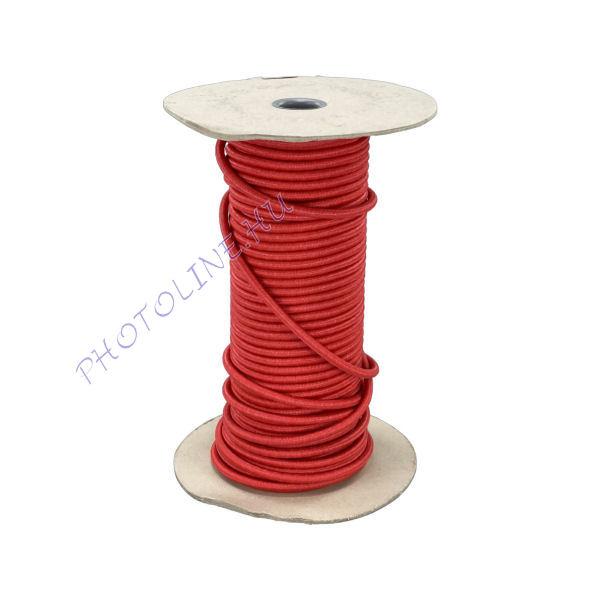Gumikötél narancspiros, 8mm átmérő, erősített