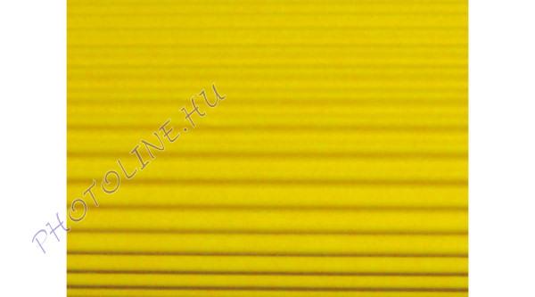 Hullámkarton 50x70 cm, citromsárga