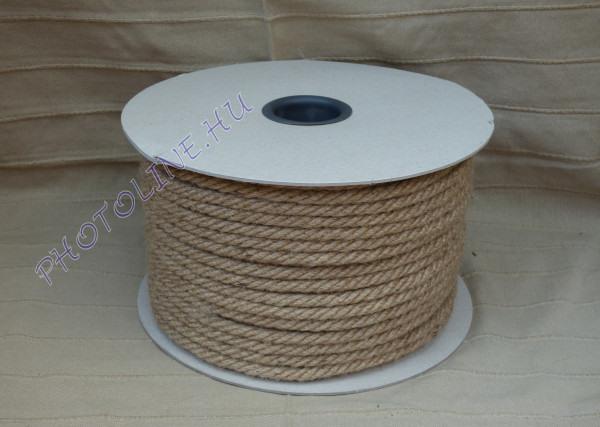 Kenderkötél folyóméterre, 12 mm kender kötél