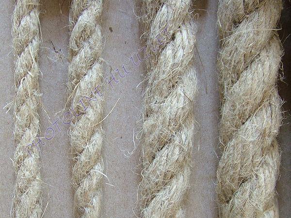 Kenderkötél folyóméterre, 22 mm kender kötél