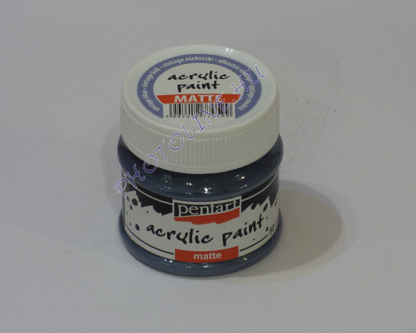 Akrilfesték matt, 50 ml, vintage kék