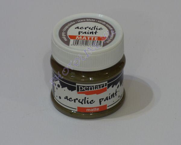 Akrilfesték matt, 50 ml, iszapszürke