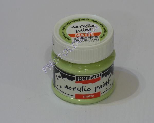 Akrilfesték matt, 50 ml, mojito zöld