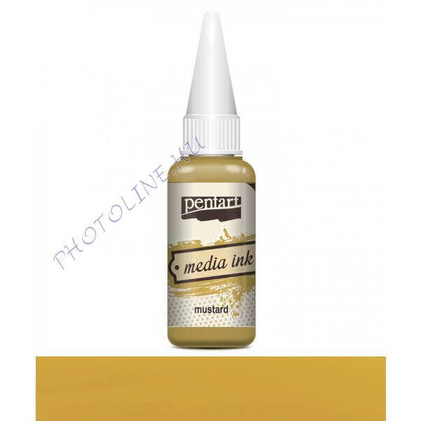 Média tinta 20 ml mustár