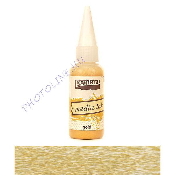 Média tinta metál 20 ml arany