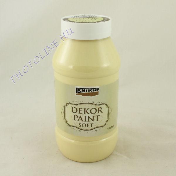Dekorfesték lágy 1000 ml sárga