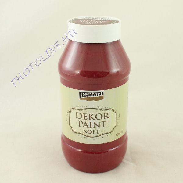 Dekorfesték lágy 1000 ml burgundi vörös