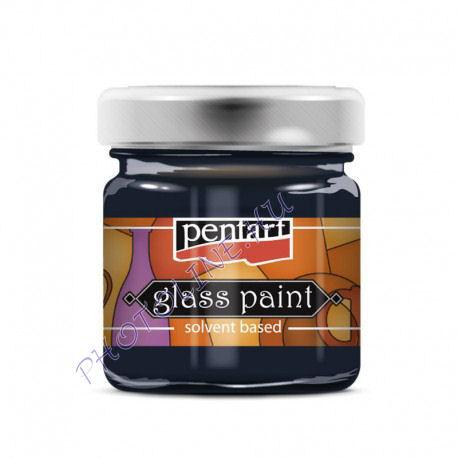 Üvegfesték (áttetsző lakk) 30 ml, viharkék