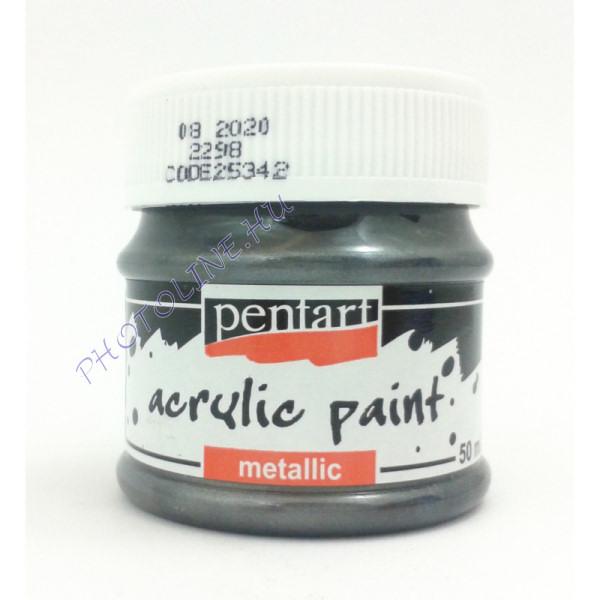 Metál akrilfesték 50 ml ólom