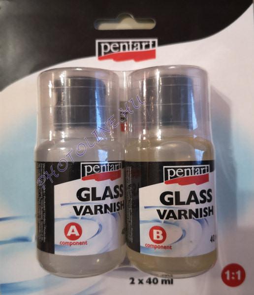 Üveglakk 2x40 ml, kétkomponensű műgyanta rendszer