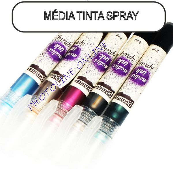 Média tinta spray 9 ml tejeskávé