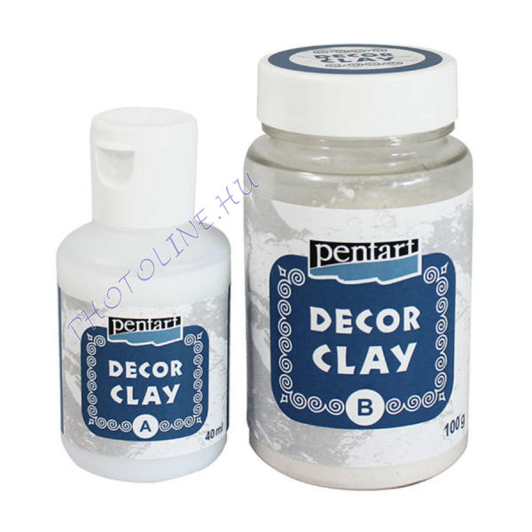 Decor clay szett, 100 g + 40 ml
