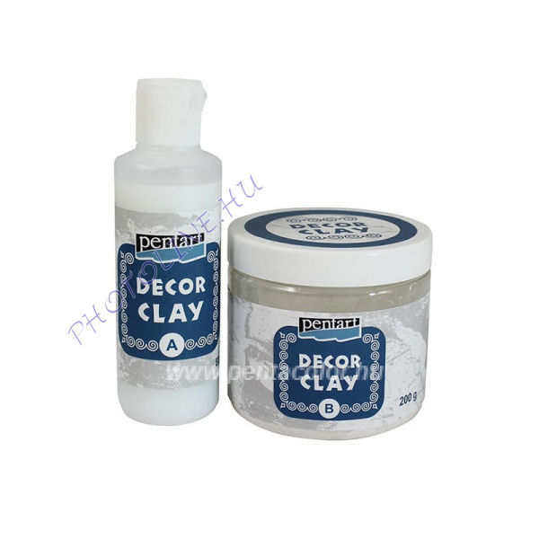 Decor clay szett, 200 g + 80 ml