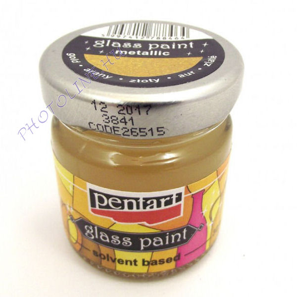 Üvegfesték (áttetsző lakk) 30 ml, arany