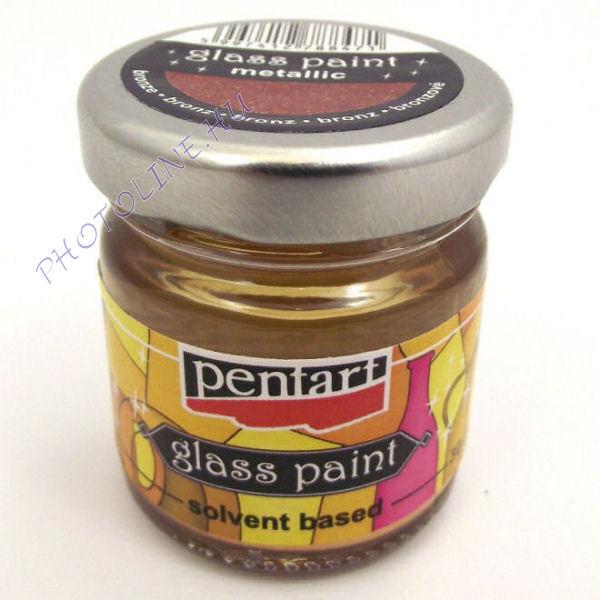 Üvegfesték (áttetsző lakk) 30 ml, bronz