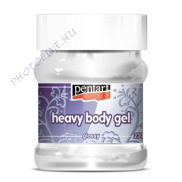 Sűrű gélpaszta fényes - átlátszó, 230 ml (heavy body gel)