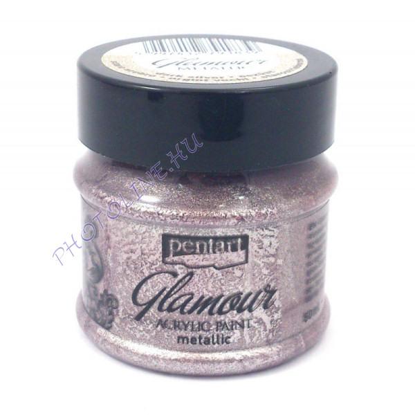 Glamour metál akrilfesték 50 ml óezüst