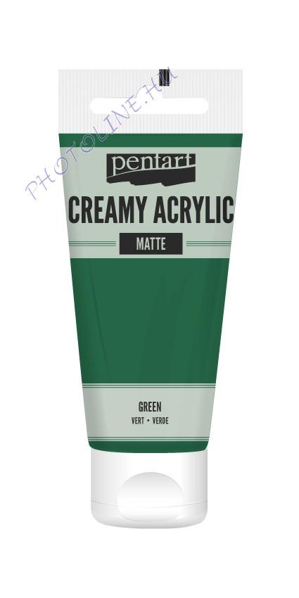 Krémes akrilfesték matt 60 ml zöld