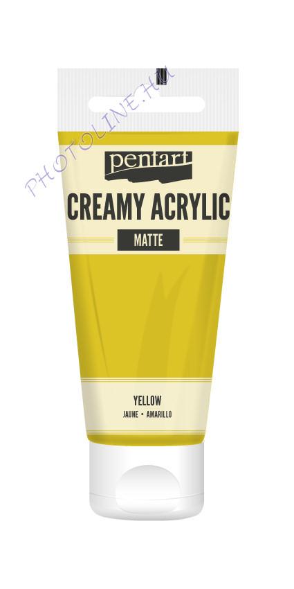 Krémes akrilfesték matt 60 ml sárga