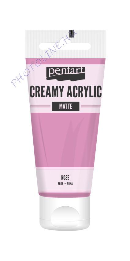 Krémes akrilfesték matt 60 ml rózsaszín