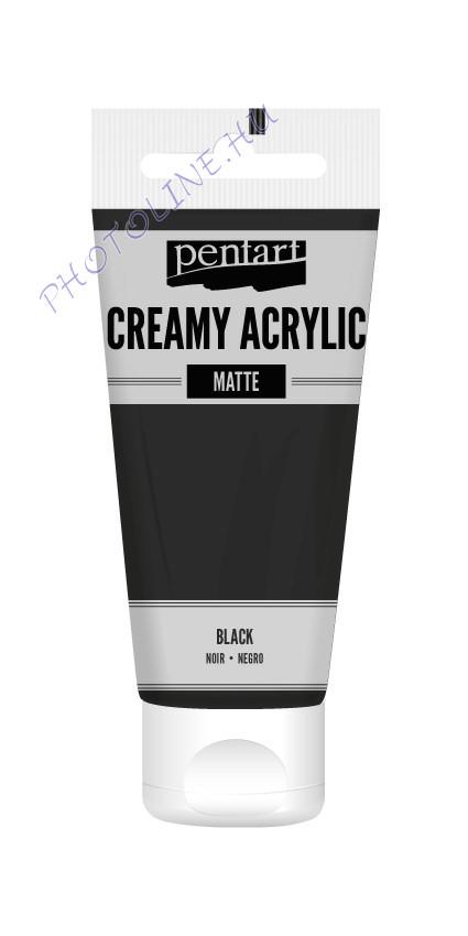 Krémes akrilfesték matt 60 ml fekete