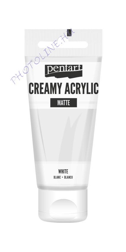 Krémes akrilfesték matt 60 ml fehér