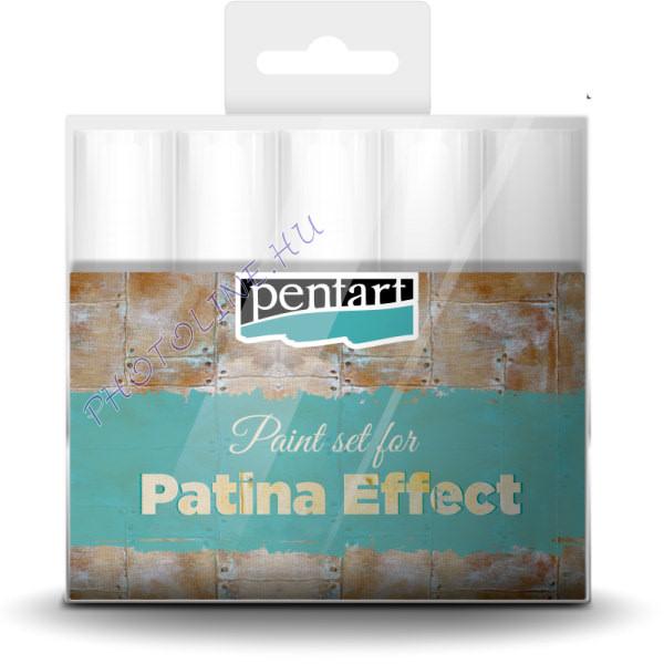 Patina hatás festék szett, 5x20 ml