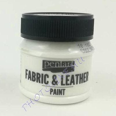Pentart textil és bőrfesték 50 ml fehér