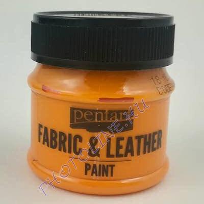 Pentart textil és bőrfesték 50 ml narancs