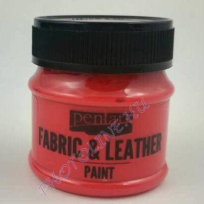 Pentart textil és bőrfesték 50 ml piros
