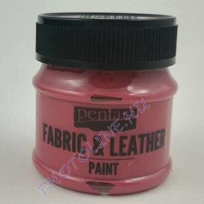 Pentart textil és bőrfesték 50 ml bordó